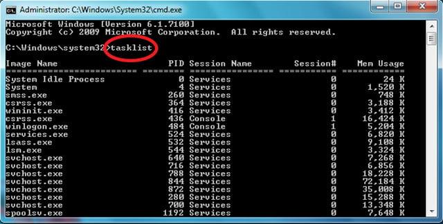 حذف پروسس ها در ویندوز