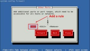 add rule on firewall